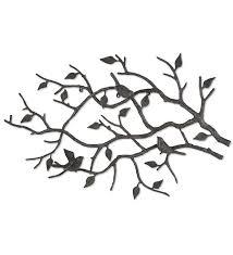 outdoor cast iron bird branch wall art
