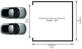 double garage door width org standard uk