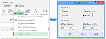 adjust size of image how to set column width and row height for a range in excel