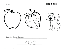 red coloring sheets color pages free worksheets preschool in printable sox