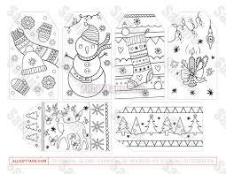 Printable christmas hang tags print 4 to 16 on a page. Christmas Coloring Gift Tags