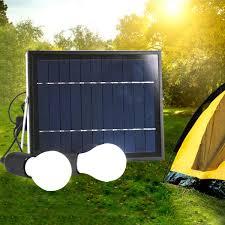 5w solar power panel led light lamp usb charger outdoor garden home system kit