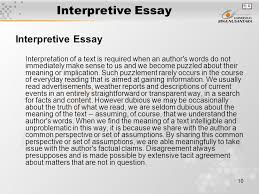 matakuliah g writing iv tahun versi v rev  10 interpretive essay interpretive essay