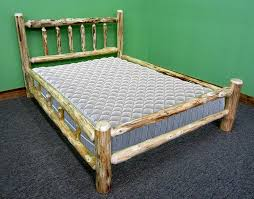 Midwest Log Furniture - Rustic Log Bed - Queen
