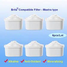 brita water filter replacement.  Water 6pcsLot Of 7layer Mineral Alkaline Ionizer Maxtra Water Filters  Replacement Refills For With Brita Filter E