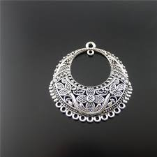 <b>6pcs</b>/lot <b>Antique Silver Hollow</b> Jewelry Necklace Pendant 46*42mm ...