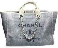 chanel deauville tote. chanel blue tote in light deauville i