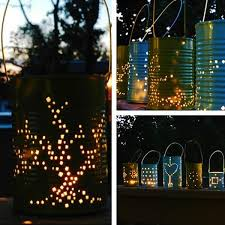 outdoor lighting ideas diy. creative outdoor lighting ideas for diy summer decorating projects recycling tin cans lights diy