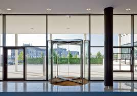 dorma ktv atrium revolving doors of all glass design
