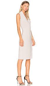 Norma Kamali Sleeveless Side Drape Dress Oyster Women Norma