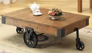 Coffee Table:Rustic Coffee Table With Wheels Rustic Coffee Table With Wheels  With Olive Fruit