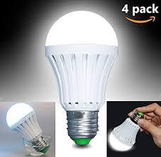 household lighting. CTKcom LED Light Bulbs 5W(4 Pack)- Emergency Lamps Household Lighting Human Body Induction,Saving Energy Intelligent Rechargable Electricity 60W E