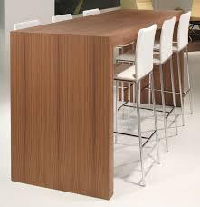 contemporary high bar table  wooden  rectangular  for public