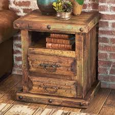 rustic reclai wood nightstand table modern country wall ideas orative wooden bowls distressed barnwood furniture orations log cabin tal and art shelf