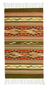 mexican zapotec wool accent rug 2 5x5 feathers of the earth