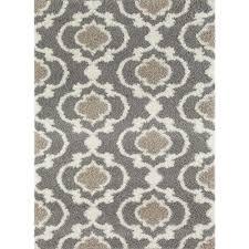 world rug gallery cozy moroccan trellis gray cream 7 ft 10 in x