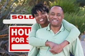 Image result for happy black couple selling their house
