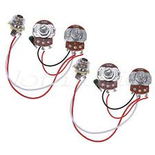 electric prewired guitar wiring harness kit 3 way toggle switch bass wiring harness prewired kit for bass guitar 250k pots 1v1t jack pack of 2