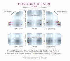 Ambassador Theatre Seating Chart Music Box Theatre Shubert Organization