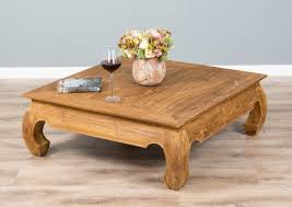 100cm rustic recycled teak square opium coffee table
