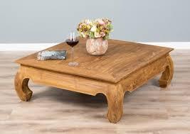 100cm rustic recycled teak square opium coffee table