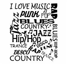 Sticker Citation Musique I Love Music Punk Rap Pop Cerise Free Png