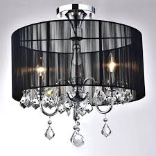 interesting crystal semi flush mount lighting top adorable black and chrome semi flush mount crystal chandelier