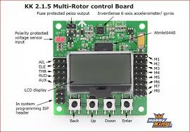multi rotor part 2 quadcopter construction step 2 gforce rc i used kk 2 1 5 lcd flight controller