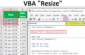 Vba Resize How To Use Resize Property In Excel Vba With