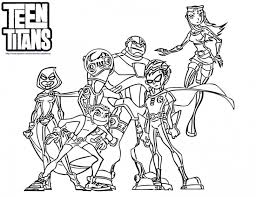 Small Picture Teen Titans Coloring Page Superheroes Coloring Pages Pinterest