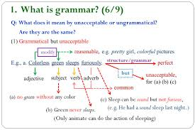 What is grammar (6/9) (Only animate can do the