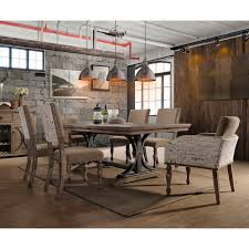 dasher 7 piece erfly leaf table with nail head arm chairs dining set