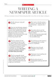Writing A Newspaper Article Writing A Newspaper Article Tips Primary Ks2 Teaching
