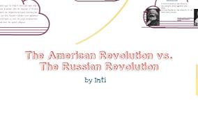 French And Russian Revolution Venn Diagram American Revolution Vs Russian Revolution By I Brittan