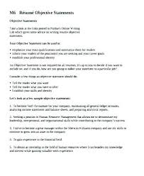 Examples Of Objective Statements On Resumes Objective For My Resume Resume Example Objective Statement Resume