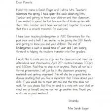 Letter From The Parent To Teacher Refrence Teacher Letter To Parents