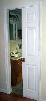pocket door skinny bathroom idea mirrored sliding doors