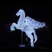 unicornio volando luces led motif light