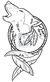 Native Dream Catchers Drawings Simple Drawing A Wolf Dreamcatcher Step By Step Drawing Guide By