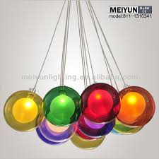 multi color glass pendant light photo