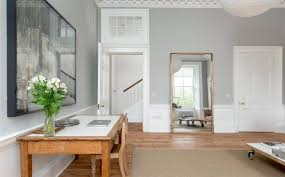 grey walls and wooden floors mad