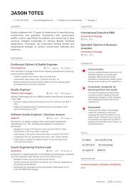 Qc Resume Samples 10 Quality Engineering Resumes Examples Guide For 2019