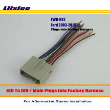 liislee for ford freestyle mustang taurus thunderbird male iso radio ford taurus wiring harness liislee for ford freestyle mustang taurus thunderbird male iso radio wire cable wiring harness car