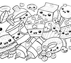 Kawaii Food Coloring Pages Anime For All Ages Sheets Colouring