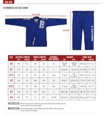 Flow Kimonos Size Chart 76 High Quality Venum Rashguard Size Chart