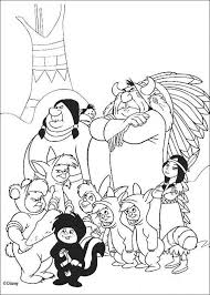Kids N Fun Kleurplaat Peter Pan De Indianen En De Slimme Jongens