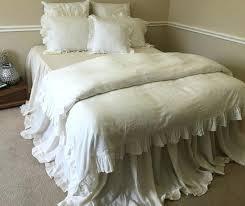 white ruffle bedding diamond comforter set 3 pieces antarti