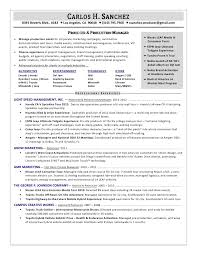 Film Producer Sample Resume Beauteous Carlos Sanchez Producer Resume