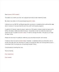 Change Of Name Template Letter Letter For Maternity Leave Change Of