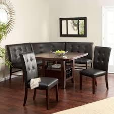 leather breakfast nook furniture. Corner Nook Dining Table Inspirational 6 Kitchen Black Set Leather Wood Breakfast Furniture MorrisKitchenNYC